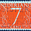 NETHERLANDS - CIRCA 1946: A stamp printed in the Netherlands shows it's value of 7 cent, circa 1946. — Stock Photo #13604206