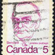 CANADA - CIRCA 1972: A stamp printed in Canada shows a portrait of Canadian Prime Minister Richard Bedford Bennett, circa 1972. — Stock Photo