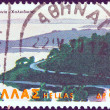 GREECE - CIRCA 1979: A stamp printed in Greece from the &amp;quot;Landscapes&amp;quot; issue shows Sithonia peninsula, Chalkidiki, circa 1979. - Stock Photo