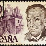 SPAIN - CIRCA 1978: A stamp printed in Spain shows poet Antonio Machado, circa 1978. — Stock Photo