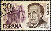 SPAIN - CIRCA 1978: A stamp printed in Spain shows poet Antonio Machado, circa 1978. — Stock Photo