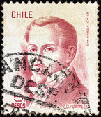 CHILE - CIRCA 1975: A stamp printed in Chile shows politician Diego Portales (1793-1837), circa 1975. — Stock Photo