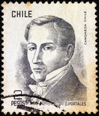 CHILE - CIRCA 1975: A stamp printed in Chile shows politician Diego Portales (1793-1837), circa 1975. — Стоковое фото