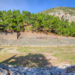 Stockfoto: Panoramof ancient stadium of Delphi, Greece