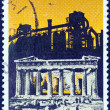 "GREECE - CIRC1977: stamp printed in Greece from ""Environmental Protection"" issue shows Parthenon and Industrial Complex, circ1977. — Stock Photo #13849388"