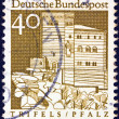 "GERMANY - CIRCA 1966: A stamp printed in Germany from the ""Historic Buildings"" issue shows Trifels Fortress, Palatinate, circa 1966. — Stock Photo #13849432"
