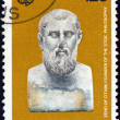 "CYPRUS - CIRC1980: stamp printed in Cyprus from ""Europa"" issue shows Zeno of Citium founder of Stoic philosophy, circ1980. — Stock Photo #13849575"