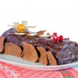 Royalty-Free Stock Photo: Chocolate cake with Christmas decoration