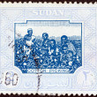 SUDAN - CIRCA 1951: A stamp printed in Sudan shows Cotton Picking, circa 1951. - ストック写真