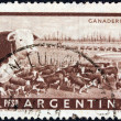ARGENTINA - CIRCA 1954: A stamp printed in Argentina shows cattles, circa 1954. — Stock Photo #14018668