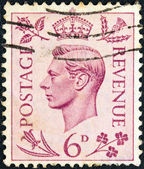 UNITED KINGDOM - CIRCA 1937: A stamp printed in United Kingdom shows King George VI, circa 1937. — Stock Photo