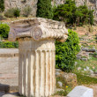 Single column with Ionic capital in Delphi archaeological site, Greece — Stock Photo