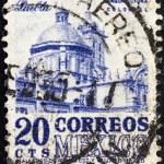 MEXICO - CIRCA 1950: A stamp printed in Mexico shows Puebla Cathedral, circa 1950. — Stock Photo #14534579