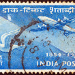 INDIA - CIRCA 1954: A stamp printed in India issued for the Indian Stamp Centenary shows Postal Transport of 1854 and 1954, circa 1954. — Stock Photo