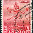 INDIA - CIRCA 1949: A stamp printed in India shows Nataraja, circa 1949. — Stock Photo #14535041