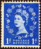 UNITED KINGDOM - CIRCA 1952: A stamp printed in United Kingdom shows Queen Elizabeth II, circa 1952. — Foto de Stock