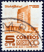 MEXICO - CIRCA 1950: A stamp printed in Mexico shows modern building, Mexico City, circa 1950. — Stock Photo