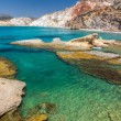 Fyriplaka beach, Milos island, Cyclades, Greece — Stock Photo