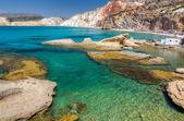 Fyriplaka beach, Milos island, Cyclades, Greece — Stock Photo