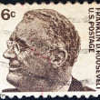 "USA - CIRCA 1965: A stamp printed in USA from the ""Prominent Americans (1st series)"" issue shows president Franklin Delano Roosevelt, circa 1965. — Stock Photo"
