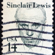"USA - CIRCA 1985: A stamp printed in USA from the ""Great Americans"" issue shows writer Sinclair Lewis,, circa 1985. — Stock Photo"