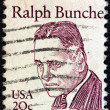 "ストック写真: US- CIRC1980: stamp printed in USfrom ""Great Americans"" issue shows U.N. Secretariat member Ralph Bunche, circ1980."