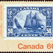 "CANADA - CIRCA 1982: A stamp printed in Canada from the ""Canada 1982 International Philatelic Youth Exhibition, Toronto. Stamps on Stamps."" issue shows a 50c stamp from 1929, circa 1982. — Stock Photo #15431195"