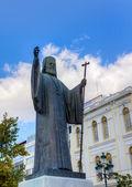 Statue of Archbishop of Greece Damaskinos (1891-1949), Athens — Stock Photo