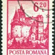 "ROMANIA - CIRCA 1972: A stamp printed in Romania from the ""Definitives I - Buildings"" shows Bran Castle (Dracula's Castle), circa 1972. - Stock Photo"