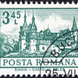 "ROMANIA - CIRCA 1972: A stamp printed in Romania from the ""Definitives I - Buildings"" shows Peles Castle, Sinaia, circa 1972. — Stock Photo"