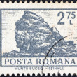 "ROMANIA - CIRCA 1972: A stamp printed in Romania from the ""Definitives I - Buildings"" shows Sphinx Rock, Mt. Bucegi, circa 1972. — Stock Photo"