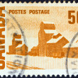 "CANADA - CIRCA 1967: A stamp printed in Canada from the ""Centennial"" Issue shows ""Summers Stores"" painting by Arthur John Ensor, circa 1967. — Stock Photo"