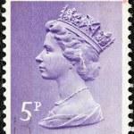 UNITED KINGDOM - CIRCA 1971: A stamp printed in United Kingdom shows a portrait of Queen Elizabeth II, circa 1971. — Stock Photo #16168891