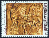 "GREECE - CIRCA 1983: A stamp printed in Greece from the ""Homeric epics"" issue shows the Trojan horse, circa 1983. — Stock Photo"