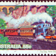"Stock Photo: AUSTRALI- CIRC1979: stamp printed in Australifrom ""Steam Railways"" issue shows Locomotive, Zig Zag Railway, New South Wales, circ1979."