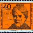 """GERMANY - CIRCA 1974: A stamp printed in Germany from the """"Women in German Politics"""" issue shows Helene Lange, circa 1974. — Stock Photo"""