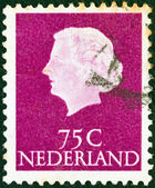 NETHERLANDS - CIRCA 1953: A stamp printed in the Netherlands shows Queen Juliana, circa 1953. — Stock Photo