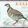 Stock Photo: GREECE - CIRC1970: stamp printed in Greece issued for Nature Conservation Year shows Rock Partridge (Alectoris Graeca), circ1970.