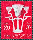 EGYPT - CIRCA 1959: A stamp printed in Egypt shows Tutankhamun's Lam, circa 1959. — Stock Photo