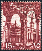 EGYPT - CIRCA 1959: A stamp printed in Egypt shows Umayyad Mosque, Damascus, circa 1959. — Stock Photo