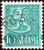FINLAND - CIRCA 1954: A stamp printed in Finland shows National arms emblem, circa 1954. — Stock Photo