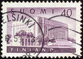 FINLAND - CIRCA 1956: A stamp printed in Finland shows House of Parliament, circa 1956. — Stock Photo