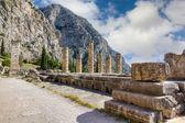Ruins of Apollo temple, Delphi, Greece — Stock Photo