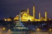 Suleymaniye Mosque night view, Istanbul, Turkey — Stock Photo