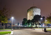 The White Tower at night, Thessaloniki, Greece — Stock Photo