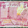 PAKISTAN - CIRCA 1955: A stamp printed in Pakistan issued for the 8th anniversary of Independence shows Main Sui gas plant, circa 1955. - Stock Photo