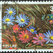 "GREECE - CIRCA 1989: A stamp printed in Greece from the ""Wild Flowers"" issue shows Anemone blanda (Grecian Windflower), circa 1989. — Stock Photo"