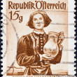 "AUSTRIA - CIRCA 1948: A stamp printed in Austria from the ""Provincial Costumes"" issue shows a woman from Burgenland Lutzmannsburg, circa 1948. — Stock Photo"