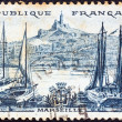 FRANCE - CIRCA 1955: A stamp printed in France from the Views issue shows Marseilles, circa 1955. — Stock Photo