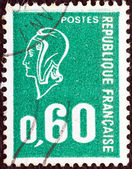 FRANCE - CIRCA 1971: A stamp printed in France shows Marianne type Bequet, circa 1971. — Stock Photo